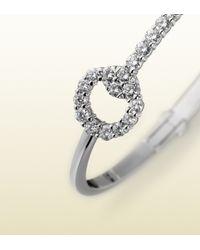 Gucci - White Gold And Diamond Horsebit Bracelet - Lyst