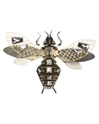 Lanvin | Metallic Embellished Insect Brooch | Lyst