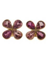 Marie-hélène De Taillac - Purple Flower Petals Earrings - Lyst