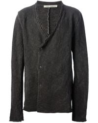 Poeme Bohemien - Gray Vneck Cardigan for Men - Lyst