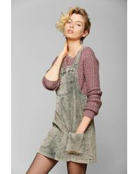 Urban Outfitters | Gray Bdg Washed Corduroy Overall Skirt | Lyst
