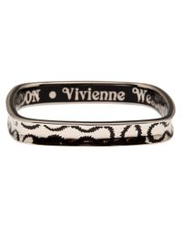 Vivienne Westwood - Black Squiggle Bangle - Lyst