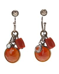 Beth Orduna - Orange Crystal Jewel Earring - Lyst