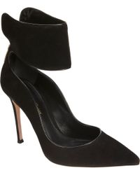 Gianvito Rossi | Black Ankle Wrap Pump | Lyst