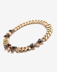 Iosselliani - Metallic Navette Curb Chain Necklace - Lyst