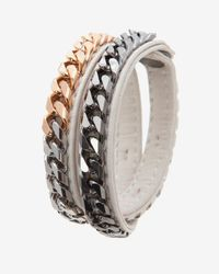Vita Fede | White Monaco Double Wrap Leather Chain Bracelet  | Lyst