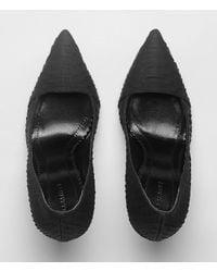 AllSaints   Black Kara Python Heel   Lyst