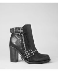 AllSaints | Black New Jules Heel Boot | Lyst