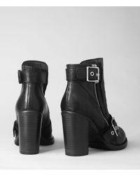 AllSaints - Black New Jules Heel Boot - Lyst