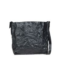 Ann Demeulemeester | Black Large Leather Bag | Lyst