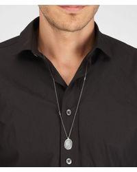 Bottega Veneta - Metallic Intrecciato Oxidized Silver Pendant for Men - Lyst