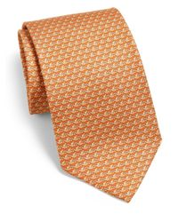 Ferragamo - Orange Bird Silk Tie for Men - Lyst