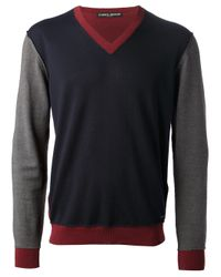 Frankie Morello | Blue Vneck Sweater for Men | Lyst