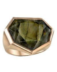 Irene Neuwirth - Green Polygonal Rose Cut Stone Ring - Lyst