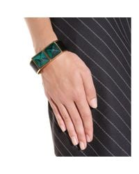 Marni | Green Pony Hair And Horn Bracelet | Lyst