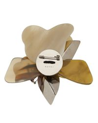 Marni | Natural Layered Flower Brooch | Lyst