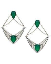 Shaun Leane - Bound Green Onyx Earrings - Lyst