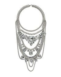 TOPSHOP - Metallic Rhinestone Mix Layer Chain - Lyst