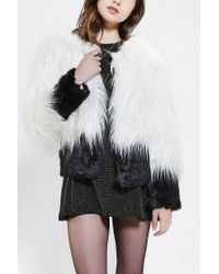 Urban Outfitters | White Staring At Stars Deville Faux Fur Jacket | Lyst