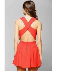 Urban Outfitters - Red Naven Twisted Skater Dress - Lyst