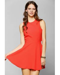 Urban Outfitters | Red Naven Twisted Skater Dress | Lyst