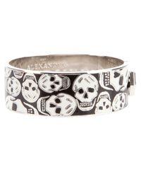 Alexander McQueen   Black 'skull' Bangle   Lyst