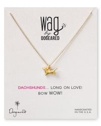 Dogeared | Metallic Dachshund Pendant Necklace  | Lyst