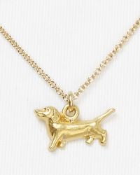 Dogeared - Metallic Dachshund Pendant Necklace  - Lyst