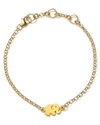 Dogeared - Metallic Good Luck Elepahant Bracelet - Lyst