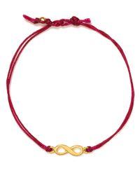 Dogeared - Red Infinity Linen Bracelet - Lyst