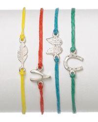 Dogeared - Blue Guardian Angel Linen Bracelet - Lyst