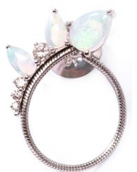 Fernando Jorge - Metallic Diamond Opal White Gold Electric Loop Earrings - Lyst