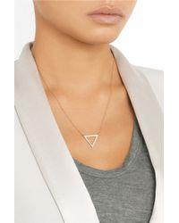 Halleh - Metallic 18-Karat Gold Diamond Triangle Necklace - Lyst