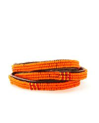 Henri Bendel - Orange Chan Luu 3 Wrap Seed Bead Efi Bracelet - Lyst