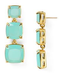 kate spade new york | Green Shaken Stirred Graduated Linear Earrings | Lyst