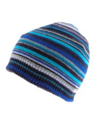 Paul Smith | Blue Mens Classic Striped Hat for Men | Lyst