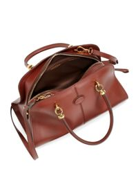 Tod's - Brown Sella Bauletto Medium - Lyst
