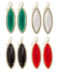 Kendra Scott - Black Jessa Marquise Earrings - Lyst
