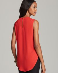 Vince Camuto - Orange Center Pleat Sleeveless Blouse - Lyst