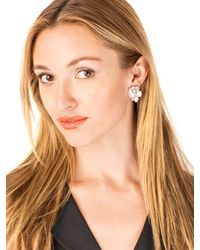 BaubleBar - White Pearl Cluster Studs - Lyst