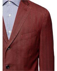 Boglioli - Red Wool Herringbone Blazer for Men - Lyst