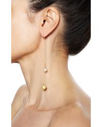 Delfina Delettrez - Metallic Fishing For Compliments Earrings in White and Gold Pearl - Lyst