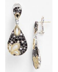 Lagos | Metallic Nightfall Diamond Black Spinel Drop Earrings | Lyst