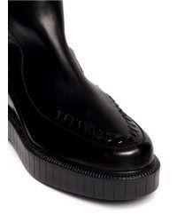 Robert Clergerie - Black Patrick Contrast Leather Platform Boots - Lyst