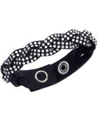 Swarovski | Black Slake Braid Bracelet | Lyst