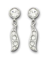 Swarovski   Metallic Sparkle Pierced Earrings   Lyst