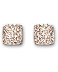 Swarovski - Metallic Tactic Pierced Earrings - Lyst
