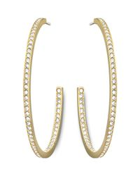 Swarovski | Metallic Vi Hoop Pierced Earrings | Lyst