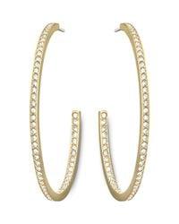 Swarovski - Metallic Vi Hoop Pierced Earrings - Lyst