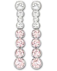 Swarovski | Pink Hot Pierced Earrings | Lyst